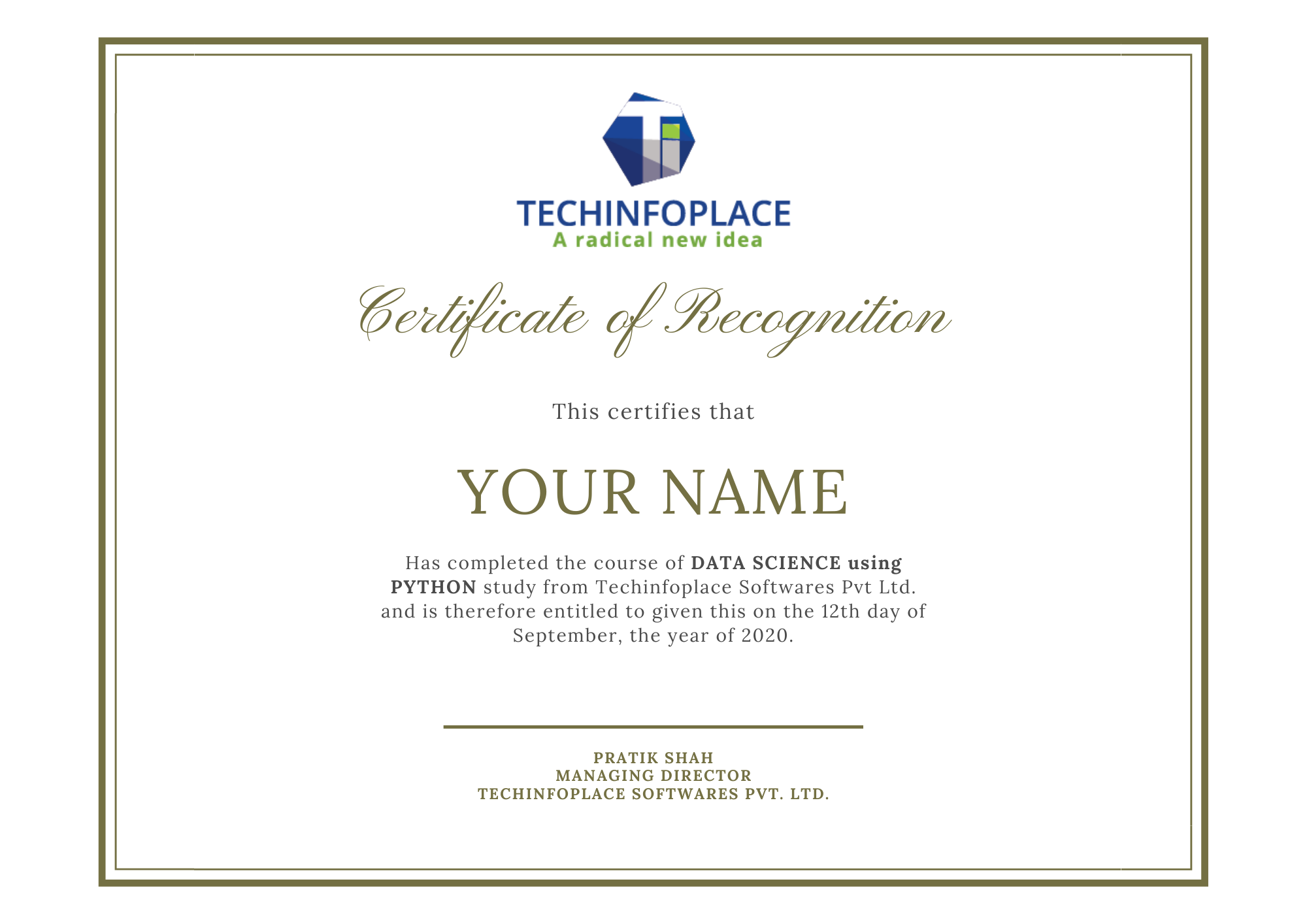 Data Science Certificate